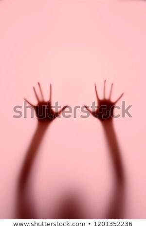 Test mögött sötét függöny gyönyörű meztelen Stock fotó © ssuaphoto