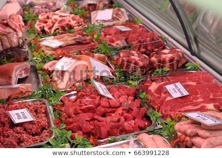 販売 カウンタ 肉 スーパーマーケット ビジネス ショッピング ストックフォト © wavebreak_media