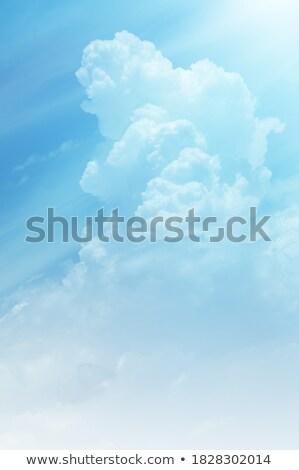 Kék nyár égbolt fehér felhők természet Stock fotó © boggy