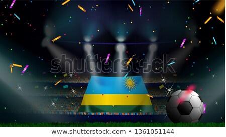 человека флаг Руанда толпа 3d иллюстрации знак Сток-фото © MikhailMishchenko