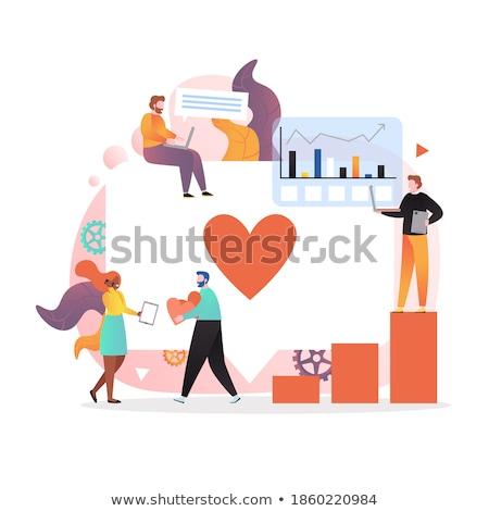 Társasági tevékenység ikonok promóció hálózat média Stock fotó © gomixer