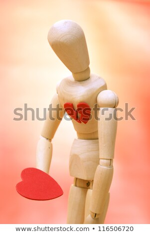 Mannequin looks down to their newly found mended heart Stock photo © wavebreak_media