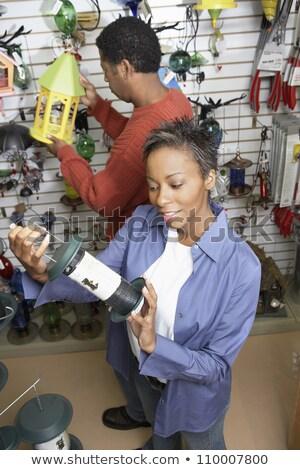 kobieta · sklepu · uśmiechnięta · kobieta · uśmiechnięty · uśmiech · pracy - zdjęcia stock © monkey_business