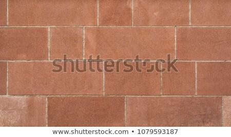 Rood zandsteen muur gebouw bouw rock Stockfoto © Zerbor
