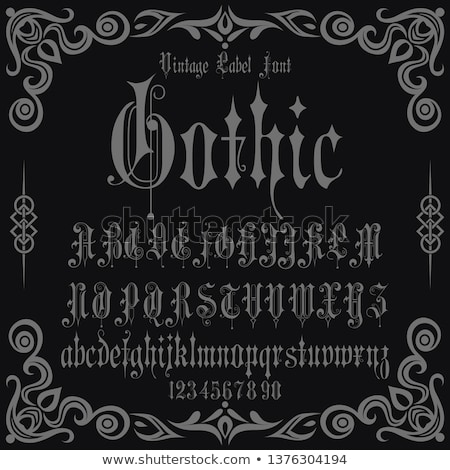 Gothic alphabet lowercase calligraphic letters. Vector Stock photo © Andrei_