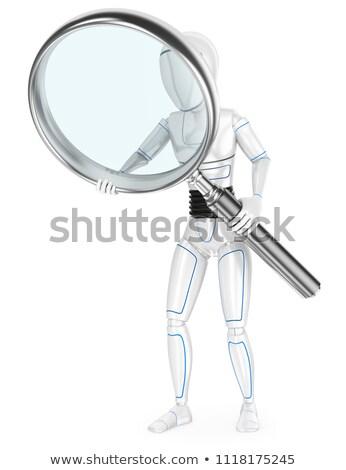 увеличительное · стекло · Focus · будущем · слово · белый · очки - Сток-фото © texelart