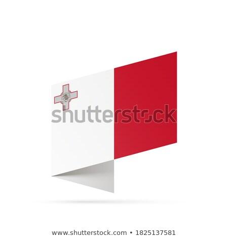 Malta bandiera isolato moderno ombra design Foto d'archivio © kyryloff
