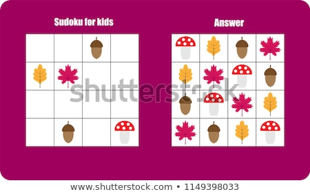 educational game sudoku shapes Stock photo © Olena
