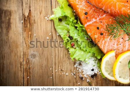 Delicious salmon fillet, rich in omega 3 oil Stock photo © Melnyk