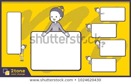 2tone type Polka dot clothes ribbon girl_set 14 Stock photo © toyotoyo