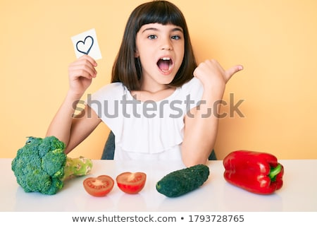 Young girl with mouth open Stock photo © monkey_business