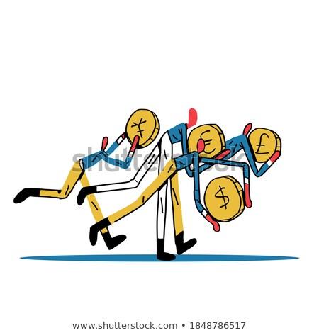 доллара фунт тень валюта шахматам Финансы Сток-фото © unikpix