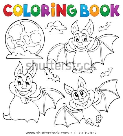 Libro para colorear colección libro arte animales otono Foto stock © clairev
