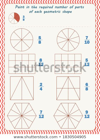 Paint each shape  fraction Stock photo © Olena