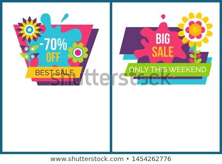 collectie · korting · af · zomer · verkoop · advertentie - stockfoto © robuart