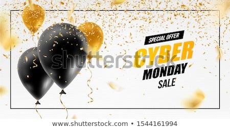 Abstract Cyber Monday Sale Banner Ad Vector Template Design Stock photo © SaqibStudio