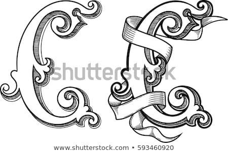 черно · белые · письме · 3D · 3d · визуализации · иллюстрация - Сток-фото © djmilic