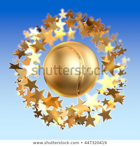 goud · bal · 3d · render · witte · fitness · technologie - stockfoto © djmilic
