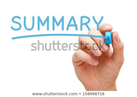önéletrajz kézzel írott kék jelző kéz ír Stock fotó © ivelin