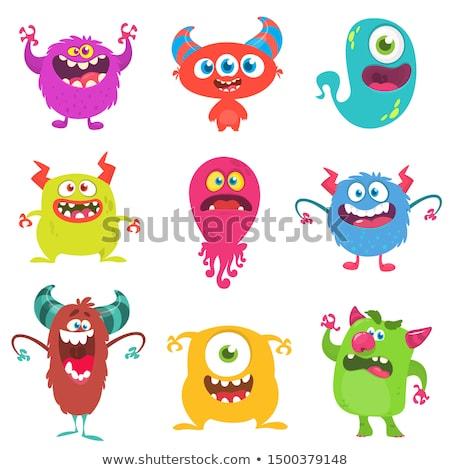Cartoon diablo iconos expresiones Foto stock © cthoman