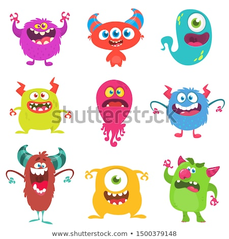 silly cartoon devil icons stock photo © cthoman
