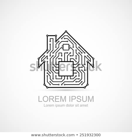 smart home line pattern concept stock photo © anna_leni