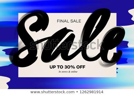 販売 バナー テンプレート 青 水彩画 ファッション ストックフォト © ikopylov