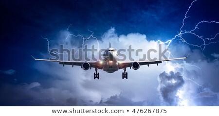 самолет Flying непогода иллюстрация небе фон Сток-фото © bluering