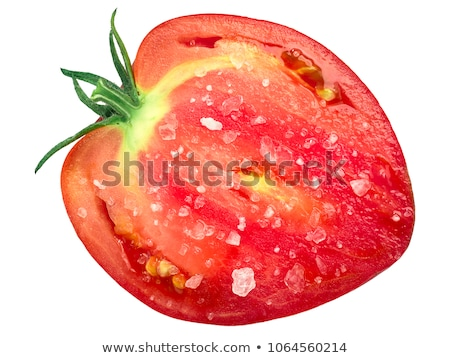 Salted oxheart tomato slice, top view Stock photo © maxsol7