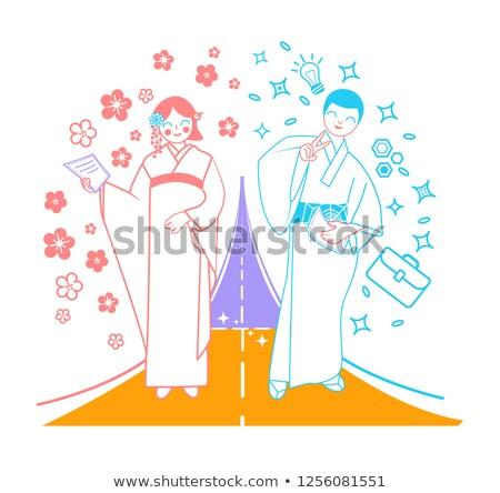 önemli · an · hayat · Japonya · yol · kadın - stok fotoğraf © olena