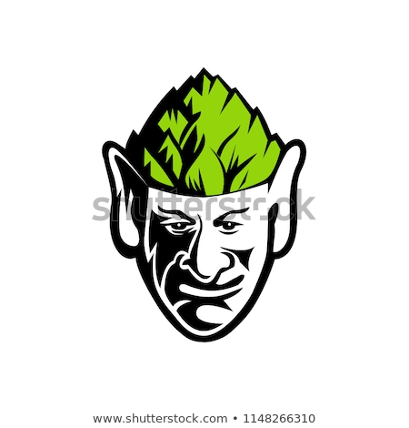эльф Hat талисман икона иллюстрация Сток-фото © patrimonio