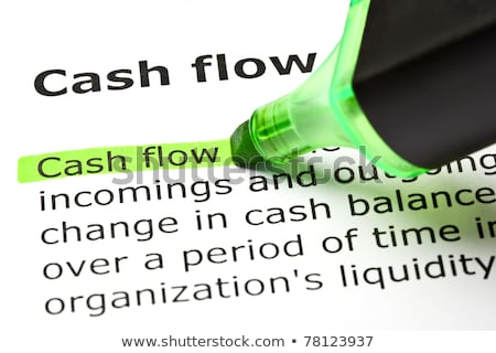 cash flow highlighted in green stock photo © ivelin