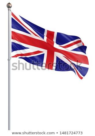 Stock foto: Flagge · Großbritannien · weiß · isoliert · 3D · Bild