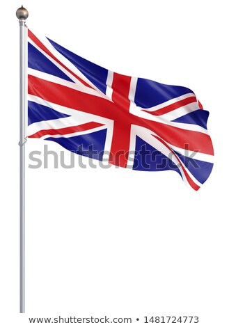 flag of Great Britain on white background. Isolated 3D image Stock photo © ISerg
