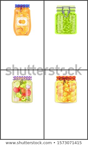 Preserved Food Banners with Tomatoes and Grapes Stock photo © robuart