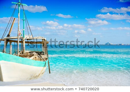 cancun · tropicali · barche · Caraibi · cielo · acqua - foto d'archivio © lunamarina
