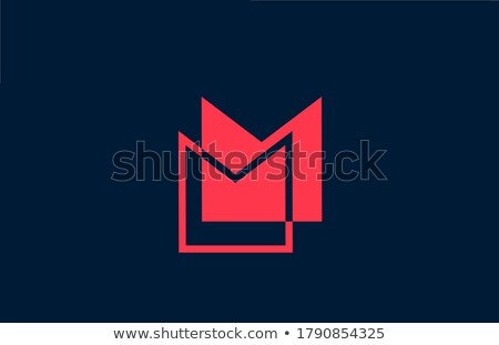 Siyah kırmızı mektup m imzalamak ikon Stok fotoğraf © blaskorizov