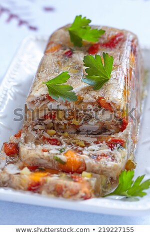 Rabbit galantine aspic  Stock photo © grafvision