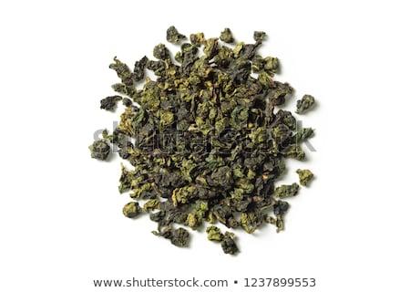 Drogen oolong thee bladeren witte achtergrond Stockfoto © eddows_arunothai