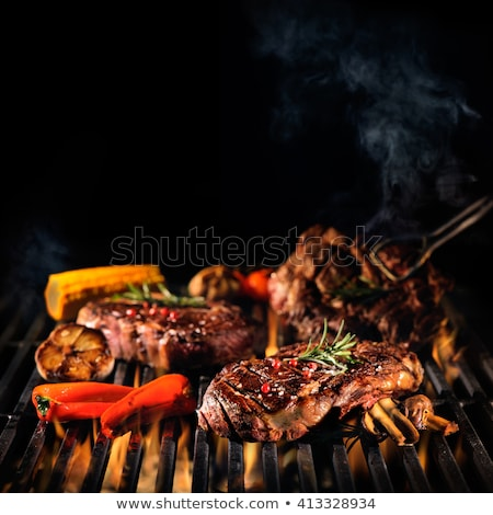 Fish is Cooking on Grill Grid  Stock photo © dariazu