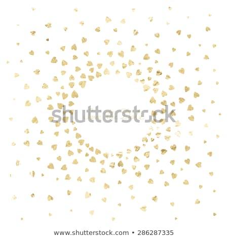 квадратный сердце конфетти кадр любви Сток-фото © solarseven