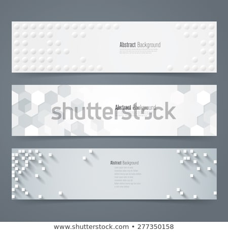 set of horizontal banners about geometry stock photo © netkov1