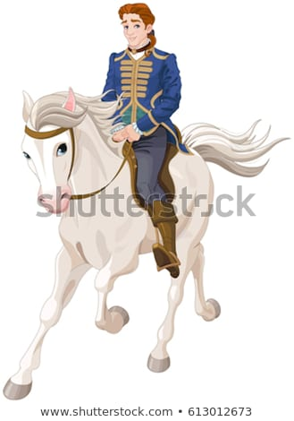 Mysterious Horse from Fairy Tale or Legends Vector Stock photo © robuart
