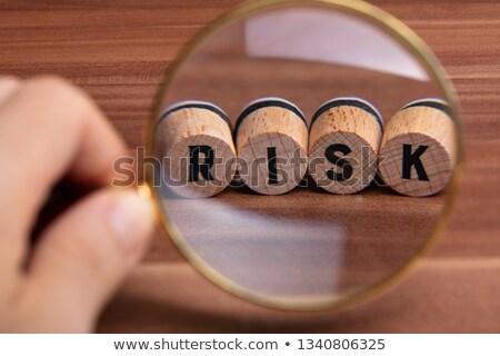 人の手 リスク 言葉 コルク クローズアップ 木製 ストックフォト © AndreyPopov