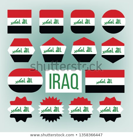 Iraq Flag Set Vector. Official Nepal Iraq Flat Symbol. Different Shapes. Illustration Stock photo © pikepicture