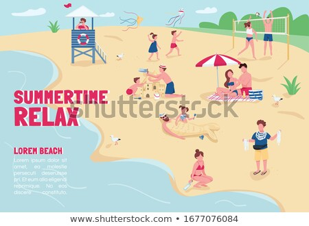 Summer beach holiday game template Stock photo © colematt