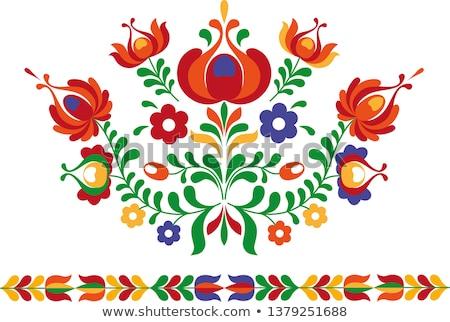 Folk ornament from Eastern Slovakia Stock photo © MyosotisRock