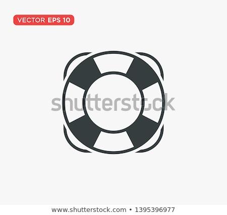 vector lifebuoy life buoy icon stock photo © vetrakori