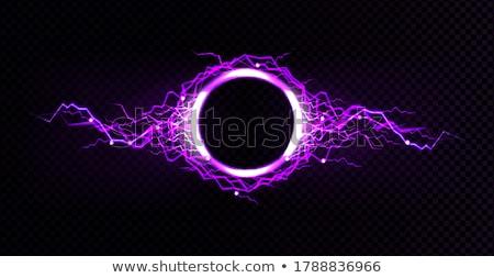 vektor · elektromos · kék · keret · fény · hatás - stock fotó © olehsvetiukha