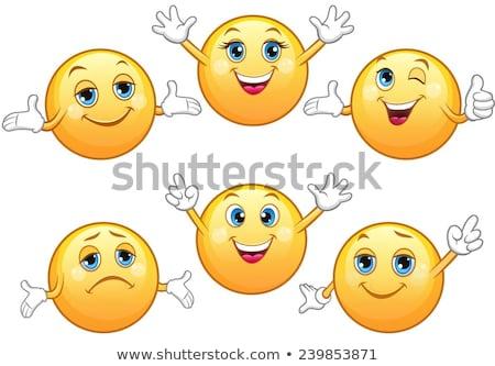 mascot smiley happy surprised illustration stock photo © lenm